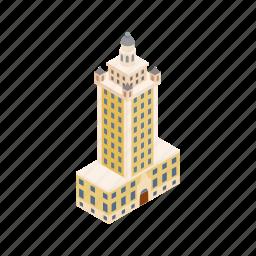 building, cityscape, freedom, isometric, miami, skyline, tower icon