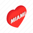 city, design, isometric, label, love, miami, summer icon