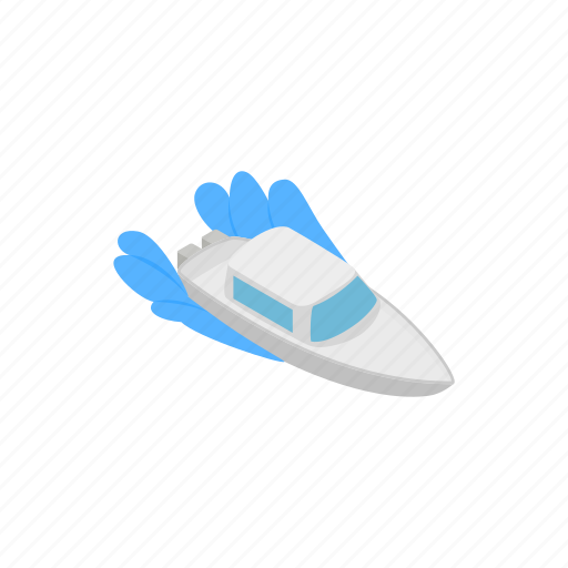 boat, isometric, nautical, sea, ship, waves, yacht icon