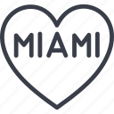 favorite city, hotel, miami, service, suitcase, travel, vacation icon