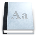 accessories, agenda, dictionary icon