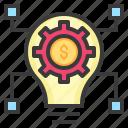 arose, business, create, idea, technology icon