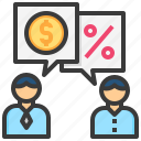 commercial, bargaining, business, discount, customer icon