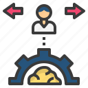 behaviour, manner, process, conduct, control icon