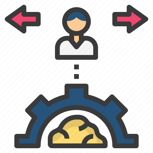 behaviour, conduct, control, manner, process icon