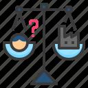 balance, counterpoise, economic, equal, equilibrium icon