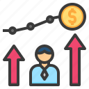 benefit, business, investment, opportunity, profit icon