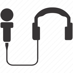headphones, mic, microphone, speaker, speech, talk, text icon