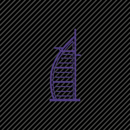 arab, burj, emarites, hotel, luxury, tourism, uae icon