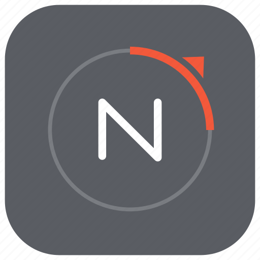 app, compass, direction, magnetic, mobile, north, orientation icon