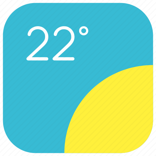 app, climate, forecast, summer, sunny, temperature, weather icon