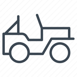 jeep, military, transport, vehicle, war icon