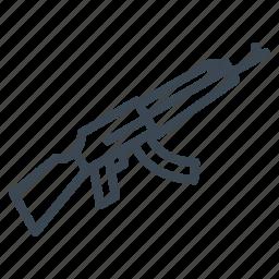 ak47, army, gun, military, riffle, war, weapon icon