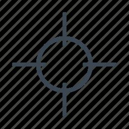 army, crosshair, military, police, shoot, shooting icon