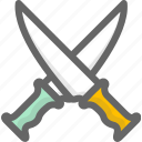 knifes, military, weapons icon
