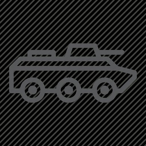 amphibious, army, battke, military, tank, transport, vehicle icon