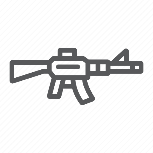Army, automatic, gun, military, rifle, war, weapon icon - Download on Iconfinder
