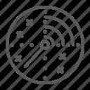 airport, army, element, military, radar, scan, target