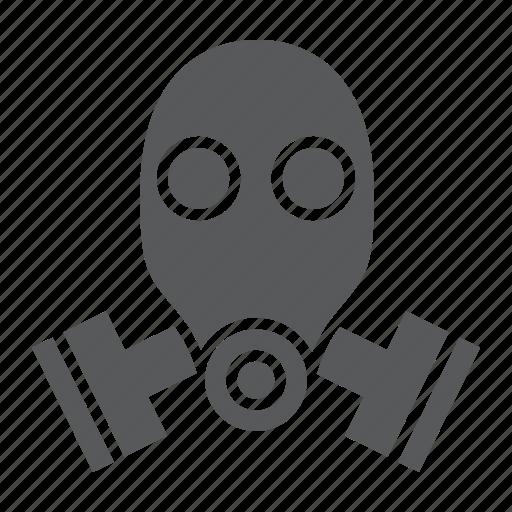 army, bio, danger, defense, gas, mask, respirator icon