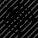 arrow, bulls, eye, military, target icon