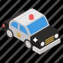 police car, political car, cop, police vehicle, autonomous car icon