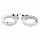 arrest, cuffs, fetters, handcuffs, manacles, shackles, speedcuffs icon