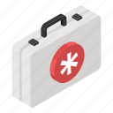 emergency kit, first aid box, first aid kit, medical case, medical kit, medicine box icon
