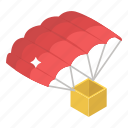 air sports, chute, parachute, paragliding, paratrooping, skydiving icon