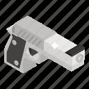 arm gun, gun, pistol, revolver, shooting pistol, weapon icon