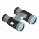 binoculars, exploring tool, field glasses, opera glasses, spyglass icon