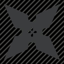 fight, ninja, star, throw, weapon icon