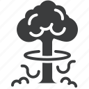 bomb, cloud, explosion, nuclear, smoke, thunderball, war icon