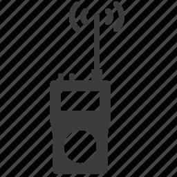communication, device, radar, radio, talkie, telecommunication, walkie icon