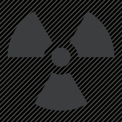 alert, caution, danger, hazard, nuclear, radioactive, warning icon