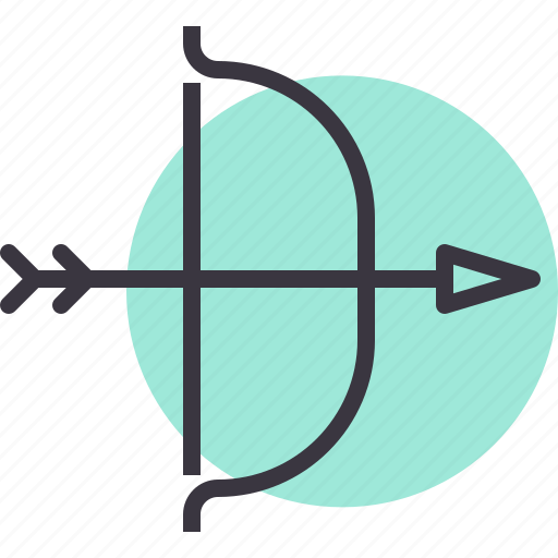 Archery, arrow, bow, hunt, target, war, weapon icon - Download on Iconfinder