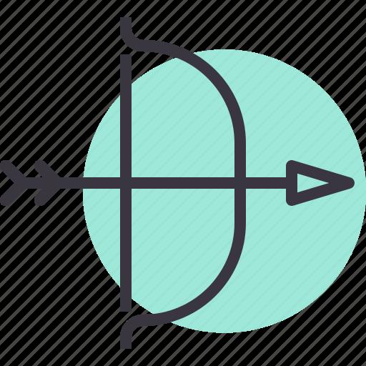 archery, arrow, bow, hunt, target, war, weapon icon
