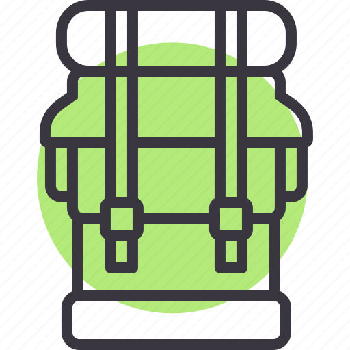 army, backpack, baggage, camping, luggage, tour, travel icon