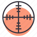 aim, crosshair, focus, goal, shoot, target, war icon