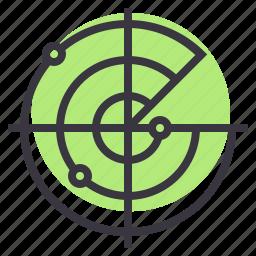 device, gps, homing, radar, satellite, signal, tracking icon