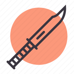 army, blade, kill, knife, military, sharp, weapon icon