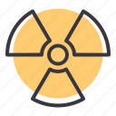 alert, caution, danger, hazard, nuclear, radioactive, warning icon