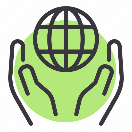 care, earth, ecology, globe, green, peace, save icon
