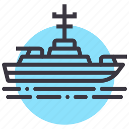 army, battle, combat, navy, ship, shoot, war icon