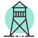 army, military, tower, war, watchtower, zone icon