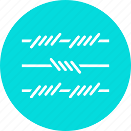 area, barbed, fence, military, restricted, wire, zone icon