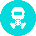 face, mask, poison, protection, safety, toxic, war icon