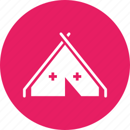 army, camp, medical, military, redcross, tent, war icon