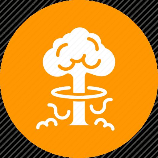bomb, cloud, explosion, nuclear, smoke, thunderball, war icon