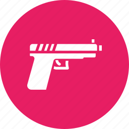 army, bullet, gun, pistol, police, shoot, war icon
