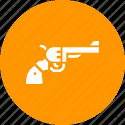 army, gun, pistol, police, revolver, shoot, war icon